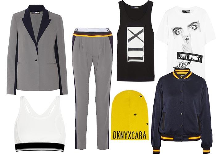 Cara Delevingne x DKNY collectie nu te koop. Alles over de collectie van Cara Delevingne x DKNY die nu te koop is bij Netaporter.