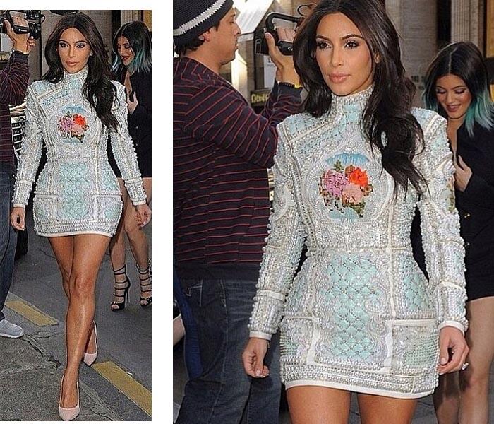 Kim Kardashian viert vrijgezellenfeest in Parijs in een jurk van Balmain. Lees hier alles over Kim Kardashian's vrijgezellenfeest in Parijs met friends.
