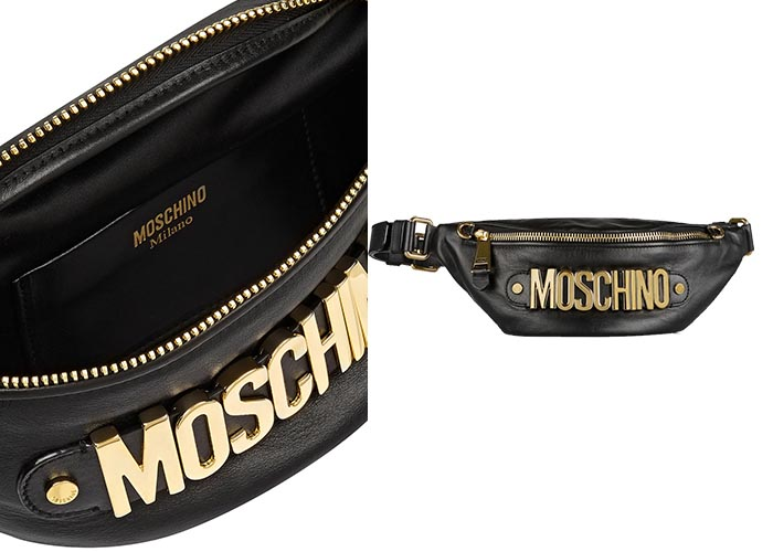 Moschino leather belt bag ook wel een Moschino fanny pack of heuptasje genoemd. Musthave 2015 accessoires.Alles over dit heuptasje/ fanny pack hier.