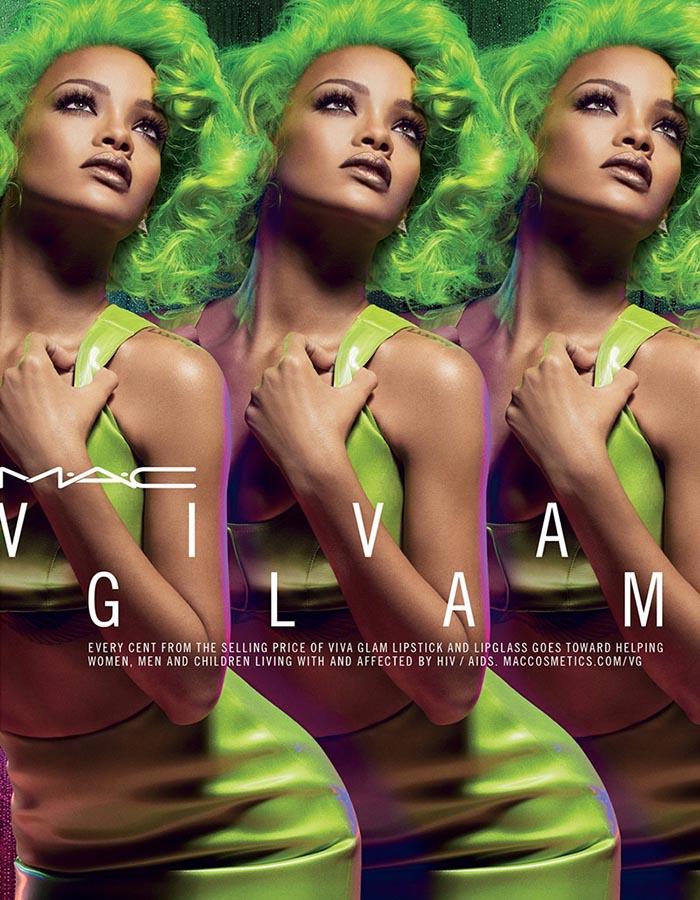 Rihanna in Viva Glam campagne voor MAC 2014. Rihanna nieuwe gezicht van MAC herfst 2014 in de Viva Glam campagne. Bekijk de foto's hier.