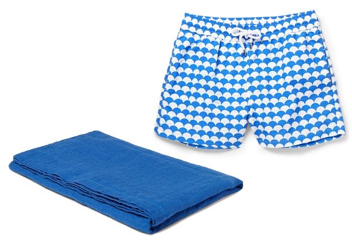 Fashionable mannen zwemkleding, mix & match. Zwembroeken, strandlakens en badlakens voor de heren en badmode. Alles over mannen zwemkleding op het strand.