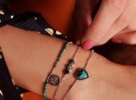 armband zilver met groene steen