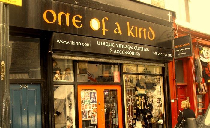 Shoppen in Londen in de vintage winkel One of a Kind. De vintagewinkel waar Rachel Zoe en Kate Moss shoppen. Ga naar One of a Kind in Londen.