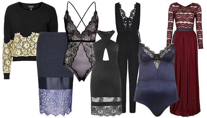 Kleding trends 2014: de feestdagen in met kant: een jurkje, body of lingerie setje. De decembermaand en de kleding trends 2014: kant is helemaal in.